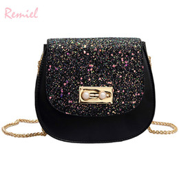 $enCountryForm.capitalKeyWord Australia - Handbag Women's Handbag Designers Brand For Teenage Girl Quality Pu Leather Saddle Bag Sequined Shoulder Messenger Bags