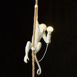 $enCountryForm.capitalKeyWord Australia - Nordic Monkey Lamp Table Lights Luminaire Industrial Lighting Hemp Rope Vintage Chandelier Lampadario Moderno New Fixtures Home Lighting