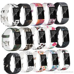$enCountryForm.capitalKeyWord Australia - Newest Replacement Painted Strap Bracelet Soft Silicone Watch Band Wrist Strap For Fitbit Charge 2 Band VS Fitbit Charge 3 Versa Alta Band