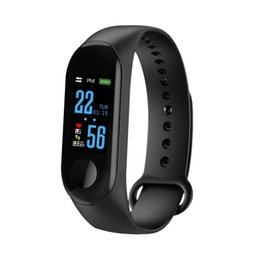 $enCountryForm.capitalKeyWord Australia - 2019 Smart Bracelet M3 Wristband For IPhone With Heart Rate Function Waterproof Touch Screen Bluetooth Control Fitness Pedometer