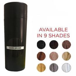 Vente en gros Naturel Kératine Top Fiber De Cheveux 27.5g Cheveux Noirs Construire Fibre Amincissant Perte De Cheveux Correcteur Styling Couverture De Poudre Bald Zone