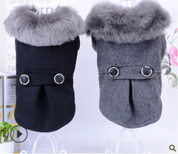 Discount extra small wholesale clothes - Pet Winter Warm Clothes Dog Cat Cotton Coat New Style Solid Color Thickened Puppy Kitten Apparel