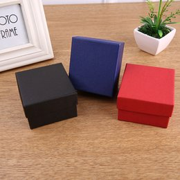 Black Paper Storage Boxes Australia - Fashion Watch boxes black red paper square watch case with pillow jewelry display box storage box