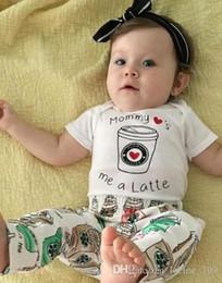 $enCountryForm.capitalKeyWord Australia - Cute Newborn Baby Boy Girl Toddler Ice-cream Romper Top Long Pants Leggings Headband Outfit Toddler Boys Girls Clothes Kid Clothing Set