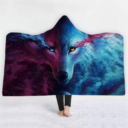 74a49ebb8476 Fans Made Anime Wolf Hoodie Children Hoody Blanket Animal Unisex for Adult  Sleeveless Cosplay Costume Hooded Fortnight Blanket
