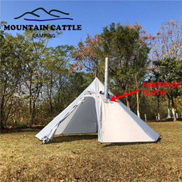big tents camping NZ - Big Pyramid Tent 3-4 Person Outdoor Camping Teepee Backpacking Tent Awnings Sun Shelter Canopy for Camping Hiking Travel Fishing