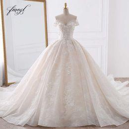 $enCountryForm.capitalKeyWord Australia - Fmogl Sexy Sweetheart Lace Ball Gown Wedding Dresses 2019 Applique Beaded Flowers Chapel Train Bride Gown Vestido De Noiva Y19072901