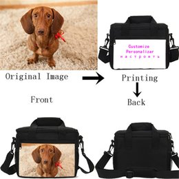 Customized Bags Australia - Customized Individual Image Name Logo Lunch Bags Ice Bags Shoulder Insulated Thermal Picnic Lunchbox Handbags Sac A Main