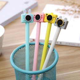 $enCountryForm.capitalKeyWord Australia - Korean Creative Cute Camera Gel Ink Pens School Thing Kawai Stationery Store Item Funny Material Office Accessory Stationary