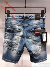 $enCountryForm.capitalKeyWord Australia - D2019 Men s Distressed Ripped Skinny Fashion Designer Shorts Slim Motorcycle Moto Biker Causal Mens Denim Pants Hip Hop Men D2 Jeans