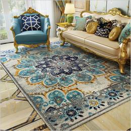 AOVOLL Tappeto Camera da letto Stile etnico Paese americano Retro Light Luxury Stuoie per soggiorno Tappeto Nordic Camera da letto e tappeto