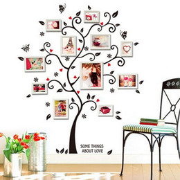 Tv Frame Plastic UK - Frame Tree Wall Stickers Muslim Vinyl Home Stickers Wall Decor Art Mural for Living Room Bedroom TV Decoration Home Decals
