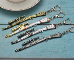 $enCountryForm.capitalKeyWord Australia - Pubg Gun Keychain Pendant Sniper Kar98K in Designed Colorful Skins Metal Gun Model Toys Gift Collection Game Party Supplies for Men and Boys