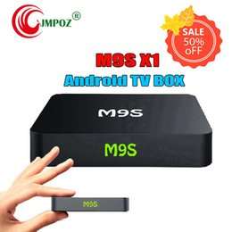 Wholesale 5 M9S X1 Android TV Box Amlogic S905X Quad Core GB GB Support G Wifi K Streaming Google Media Player DHL