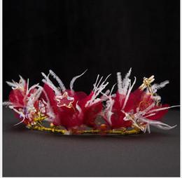 $enCountryForm.capitalKeyWord Australia - Korean Feather Headdress Bride's Hair Belt Sweet Smart Hair Ornament Marriage
