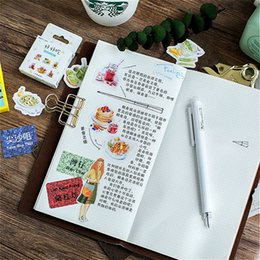 $enCountryForm.capitalKeyWord Australia - 45Pcs set kawaii bookmark style novel cute Delicious pattern Diary stickers planner office decor school supplies stationery