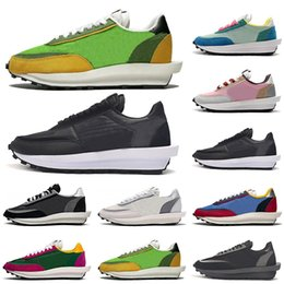 women casual shoes online NZ - Sacai LDV Waffle Daybreak Mens Trainers Casual Shoes Triple Black White Varsity Blue Men Women Sports Sneakers Size 36-45 Online Sale