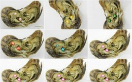 $enCountryForm.capitalKeyWord Australia - DOUBLE PEARLS Christmas Gift AKOYA SALTWATER shell pearl oyster 6-7mm red gray light blue pearl oyster with vacuum packaging