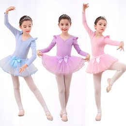 Dance Tutu Wholesale For Kids Australia - ballet dance costume for kids cotton ballet dress sequin shoes print costume paillette dancing children girls kids tutu Free shipping