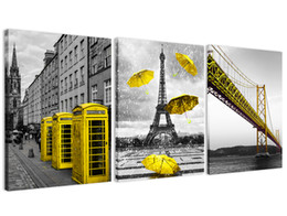$enCountryForm.capitalKeyWord NZ - Modern Simple Black and White Landscape Decorative Artwork Painting Golden City Building Canvas Wall Picture Home Decor 3 Pieces