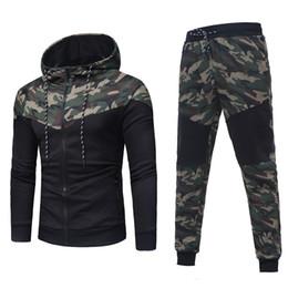 $enCountryForm.capitalKeyWord Australia - 2018 New Camouflage Printed Men Set Causal Patchwork Jacket Men 2Pcs Tracksuit Sportswear Hoodies Sweatshirt Pants Jogger Suit D