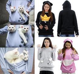 Wholesale hoody lady online – oversize Cat Lovers Hoodies Women Pet Hooded Casual Kangaroo Cat Sweatshirt For Women Pouch Hoodie Big Size Hoody Ladies Tops