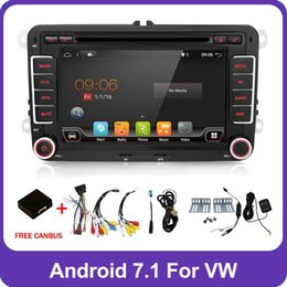 Vw Stereos Android Australia - 2 Din Quad 4 Core android 7.1 car dvd player Aux gps Stereo For VW Skoda POLO GOLF 5 6 PASSAT CC JETTA TIGUAN TOURAN Fabia Caddy