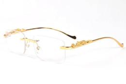 Cars eyes online shopping - 2019 Brand Designer buffalo horn glasses fashion Rimless Sunglasses For Men Polaroid Sunglasses For Women Car Driving Glasses Come With Boxe