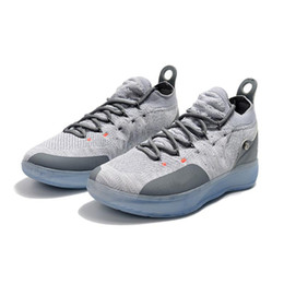 20bfa0c64537 Cheap Women kd 11 basketball shoes Cool Grey Boys Girls youth kids Kevin  Durant KD11 XI low cuts sneakers tennis with box