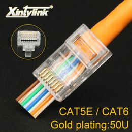 $enCountryForm.capitalKeyWord Australia - xintylink 50U EZ rj45 connector cat6 rj 45 ethernet cable plug cat5e utp 8P8C cat 6 network unshielded modular cat5 terminals