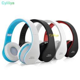 Wireless Headphones Mic Blue Australia - Wireless Bluetooth Headphones Gaming Headset Stereo Music Support Card TF Card With Mic Foldable Headband Studio Headphone Better Marshall