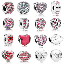 pandora kiss Australia - 925 Sterling Silver Multi Style Heart Charms Kiss Love Beads Fit Pandora silver 925 Original Bracelets Valentine's Day Jewelry