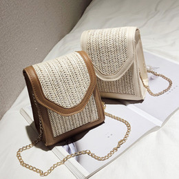 $enCountryForm.capitalKeyWord Australia - New Square Straw Bags Women Summer Rattan Bag lady Handmade Woven Beach Cross Body Bag Bohemia Handbag Bali travel vocation