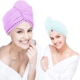 $enCountryForm.capitalKeyWord Australia - Microfiber Hair Towel Wrap Super Absorbent Quick Dry Turban Drying Curly Long Thick Hair Bath Cap Drying Wraps Bathroom Towels