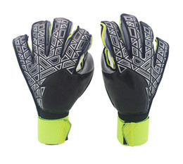keepers gloves UK - New!!!A+++Quality Brand AD Logo Professional Soccer Goal Keeper Gloves Finger Ptotection Top Latex Goalie Gloves for Men All Top Latex