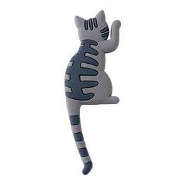 $enCountryForm.capitalKeyWord Australia - Newest Cute Cartoon Cat Fridge Magnet Hook Multifunctional Refrigerator Sticker Creative Hooks For Light Gadget Home Decorations