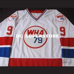 0049d6e01 Discount wha jerseys - 1979 WHA All Star #9 Gordie Howe white MEN'S Hockey  Jersey