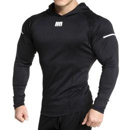 $enCountryForm.capitalKeyWord Australia - 2019 New Hooded Running Jacket Men Fitness Tight Hoodies Sports Coat Outdoor Bodybuilding Sweatshirt Gym Training Sport Jacket