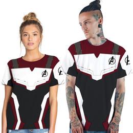 T Shirt Digital Printing Sport Australia - Quantum Warrior Digital Print Couple Short Sleeve T-Shirt Casual Sports Top Casual Short Sleeve Round Neck Top Loose Couple The Avengers