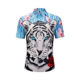 $enCountryForm.capitalKeyWord UK - Headbook Europe Size 3d Shirts Men Short Sleeved Shirts Digital Print Animal Tiger Hip Hop Beach CE901006