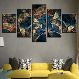 $enCountryForm.capitalKeyWord Australia - Prints Wall Art Canvas 5 Pieces Abstract Flower Painting Fashion Modular Pictures Vintage Poster Home Decor Living Room Frame a03