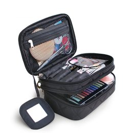 $enCountryForm.capitalKeyWord NZ - Travel Makeup Bags For Women Cosmetic Bag Waterproof 2 Layer Beauty Brush Toiletry Bag Necessaries Make Up Organizer Case Beauty
