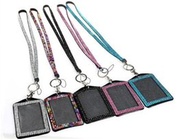 Id badge clasp online shopping - Bling Lanyard Crystal Rhinestone Lanyard With Claw Clasp Vertical ID Badge Holder Work Card Holder