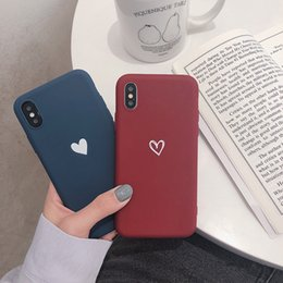Love Iphone Australia - Concise Love Phone Case For Apple Xs Xr Max Iphone 8 Plus 7 6s 6 X Xs Xr Max For Boyfriend Girl Friend Originality Defence Cover Fall Lover