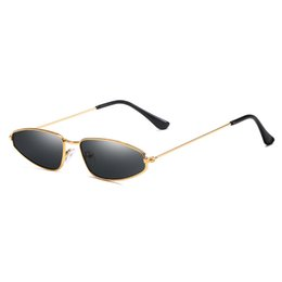 357940e34687 2019 Fashion Women Men Small Cat Eye Sunglasses Brand Designer Metal Frame  Red Pink Sun Glasses UV400 Mirror Sunglass Shades