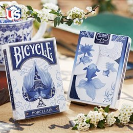 deck cards NZ - Bicycle Porcelain Playing Cards China Deck Poker USPCC Custom Limited Edition Magic Cards Close Up Stage Magic Tricks Props for Magician