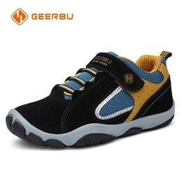 $enCountryForm.capitalKeyWord Australia - Geerbu Children Outdoor Shoes Light-weight Leather Girls Boys Sport Sneakers Kids Wear-resisting Anticollision Casual Shoes Y19070201