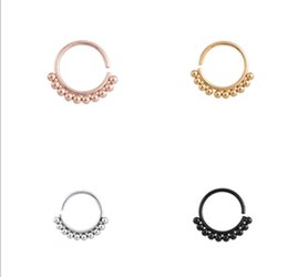 316l surgical steel nose ring Australia - 50pcs lot Free Shipping 316L Surgical Steel Seamless 18G Open Hoop Nose Tragus Cartilage Hoop Ring Earring Body Piercing NEW