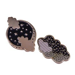 $enCountryForm.capitalKeyWord UK - Moon and clouds enamel pin sets starry night brooch astronomy landscape jewelry perfect stocking filler