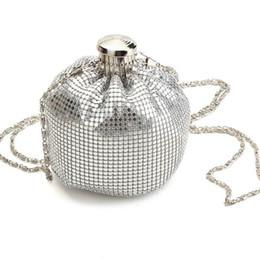 $enCountryForm.capitalKeyWord Australia - Wholesale-Small Evening Chain Bags Shinning Womens Shoulder Handbags Wedding Party LadyMini Day Clutches Round Design Crossbody Bag